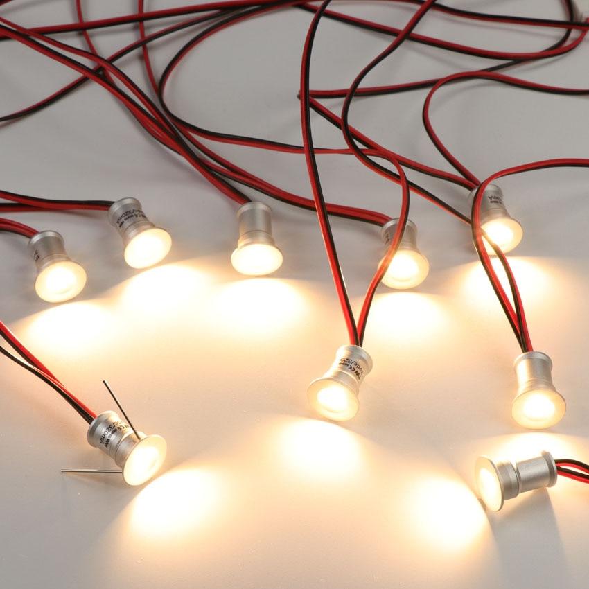 LED spot 1 W encastré plinthe lumière mini spot à LED petit plafond Downlight Spots muraux vitrine de bijoux armoire éclairage