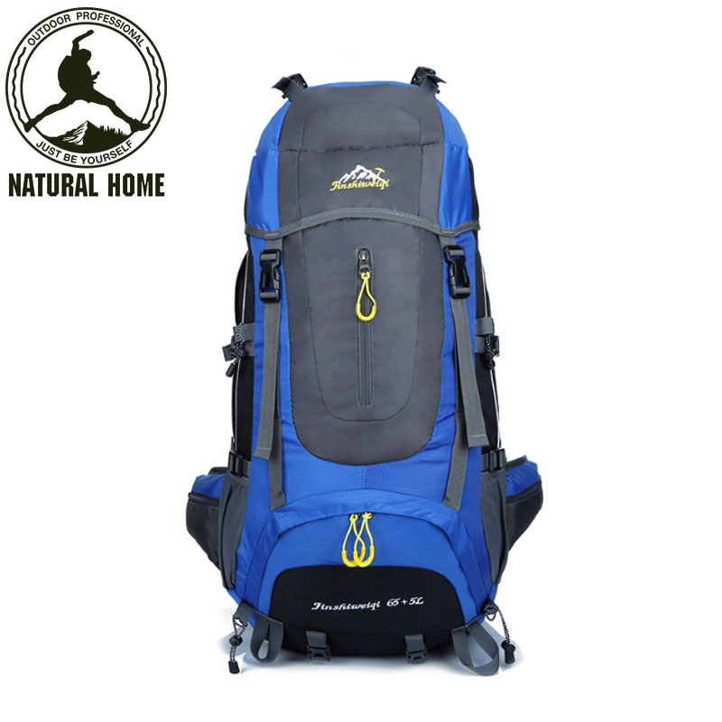 ФОТО NaturalHome Brand 60L Large Outdoor Backpack Waterproof Nylon Travel Bags Camping Hiking Climbing Backpacks Rucksack Sport Bag