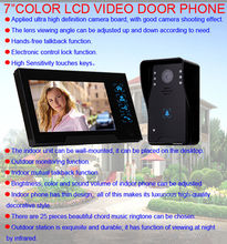 Free shipping!Home Security 7″ Doorbell Door Phone Wired Intercom Monitor Camera Night Vision