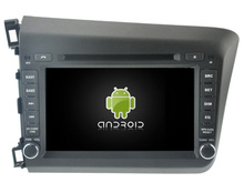 Android 5.1 car dvd GPS navi multimedia headunit for HONDA CIVIC 2012 AUDIO RADIO BLUETOOTH WIFI 3G map free camera mirror link