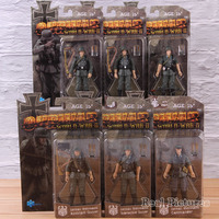 1/18 Scaled Machine/Assistant Submachine Gunner Commander Action Model Toy German Wehrmacht PVC Collectible Figure 6pcs/set