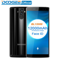 DOOGEE BL12000 RAM 4GB ROM 32GB 4 Cameras Fingerprint ID 12000mAh 6.0 inch Android 7.0 MTK6750T Octa Core 4G LTE OTG Cell Phone