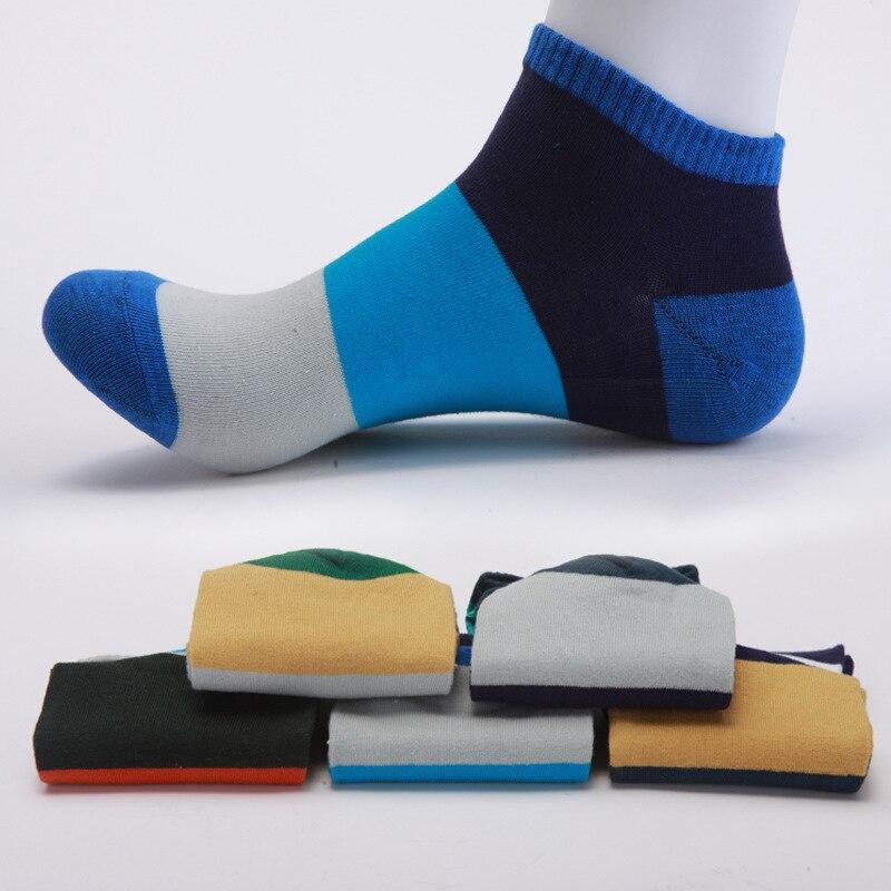 5pairs/lot Brand High Quality Fashion Cotton Sock Spring Summer Designer Men's  Ankle Socks 5 Colors Hot Sale