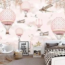 Custom Wallpaper Mural Hot-Air-Balloon Children's Home-Decoration Bedroom Living-Room