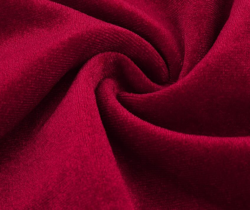 Elegant Lantern Sleeve Deep V Neck Cross Velvet Bodycon Dress 5