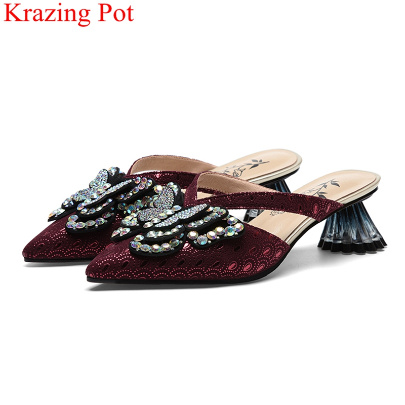 Comfortable concise style mixed colors full grain leather loafers square toe Spring brand grandma lazy women