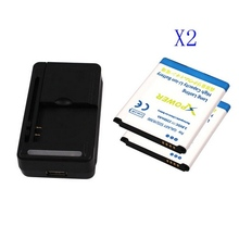 USB Wall Battery Charger+ 2x 2350mah Battery Rechargeable for Samsung Galaxy S3 SIII i9300