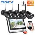 Techege 1080 P Беспроводной NVR комплект 12