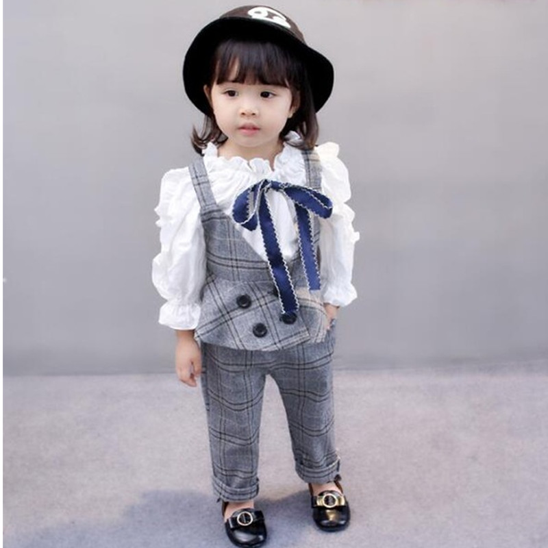 Autumn Baby Girls Clothing sets Casual Set Kids jacket+shirt+pants number 3pcs/Set Long sleeves sweet cute Children Baby Clothes 2015 autumn girls clothes fashion punk pu leather coat jacket shirt pants 3pcs children clothing set 4 15 years old kids clothes page 10
