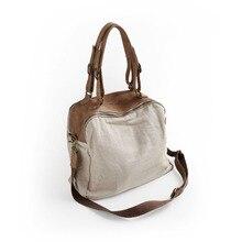 Vendange Neue mode Leinen & cow leder Patchwork stil handtasche, handgemachte Lässig umhängetasche 2352