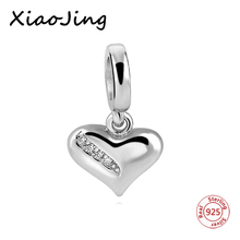 где купить Real 100% 925 Sterling Silver White love Charm With CZ Fit Original Pandora Bracelet Pendant Authentic Fine Jewelry Gift дешево