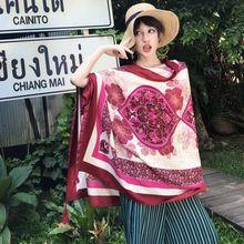 Bohême style national écharpe de coton femmes vintage imprimer châle wrap  lady voyage pashmina de haute ab67c70243e