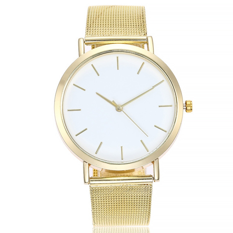 Gold Sliver Watch Casual Clock Stainless Steel Band Womens Round Dial Ladies Wrist Simple Relogio Feminino