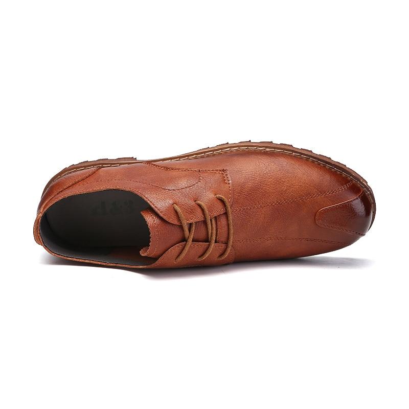 kaki De Conduite Occasionnels Ramialali 2018 Cuir Hommes Qualité Respirant Britannique En Printemps Chaussures Noir marron Style Mode Haute qTS8xTw