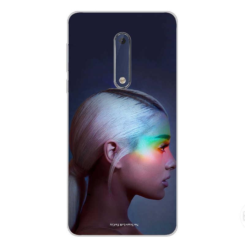 7 ciciber Para Nokia 8 7.1 6 6.1 5 5.1 3 3.1 2 2.1 SiliconePhone 1 Mais Macio Caso TPU para Nokia X7 X6 X5 X3 Ariana grande Padrão