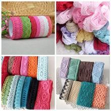 1-3,5 см, 10 ярдов/партия, разноцветная хлопковая кружевная отделка, натуральная хлопковая кружевная лента, ткань для шитья