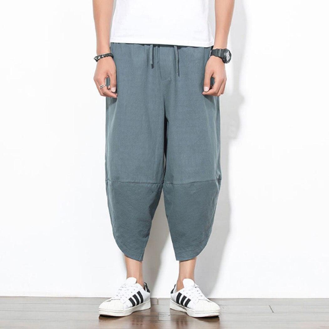 Jogger Trousers Pants Pockets Lantern Harem-Pants Streetwear Hiphop Loose Plus-Size Casual