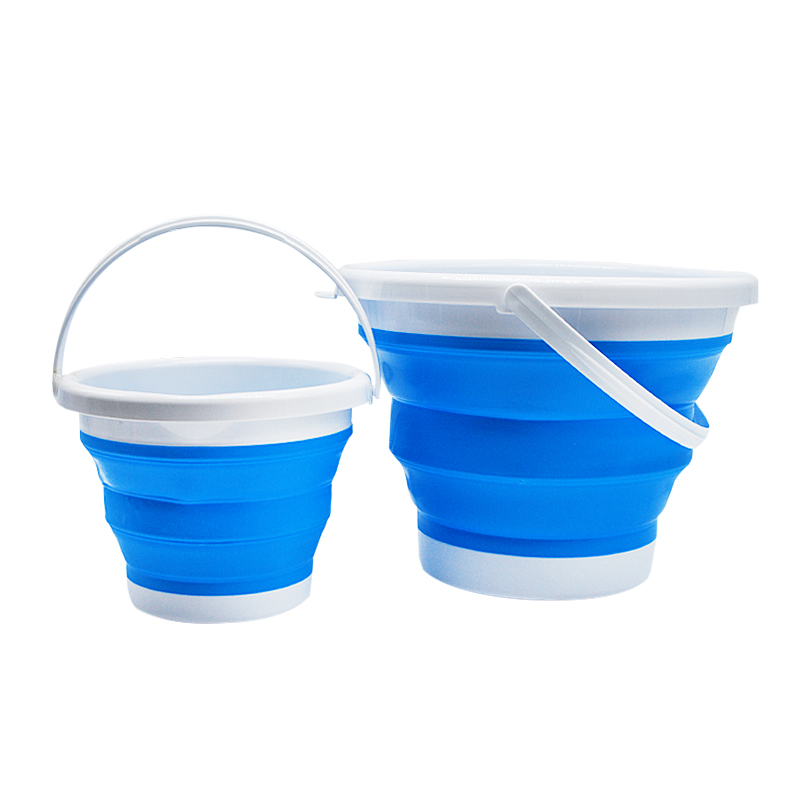 5pcs Bucket Portable Plastic Multi-purpose Collapsible Bucket Sand Bucket Water Container For Camping Beach Fishing Household Cleaning Tools