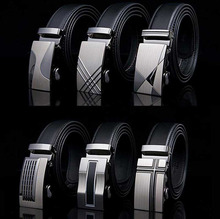 Genuine Leather Strap Belts For Men High Quality Automatic Buckle black Cummerbunds Cinturon Hombre Business Belt Male