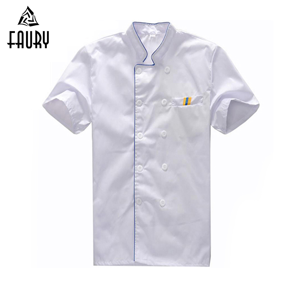 Wholesale Casual T-shirt Short-sleeved Summer Food Service Wear Work Clothes Restaurant Kitchen Bakery Chef Uniform & Apron