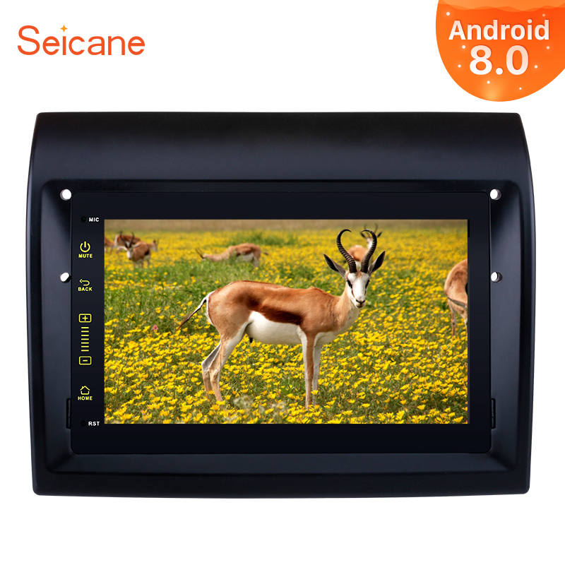 Seicane Android 8.0 7 1Din Car GPS Radio Multimedia Player For 2007-2016 Fiat Ducato Head Unit With 4G Wifi DVR OBD2 DAB+ gps магнитолу 1din