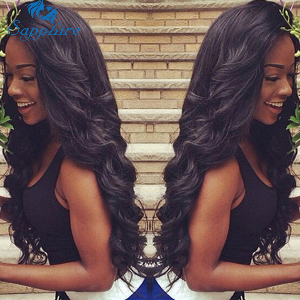 Sapphire Lace Frontal Closure With Bundles Brazilian Body Wave Human Hair Bundles With Lace Closure Brazilian