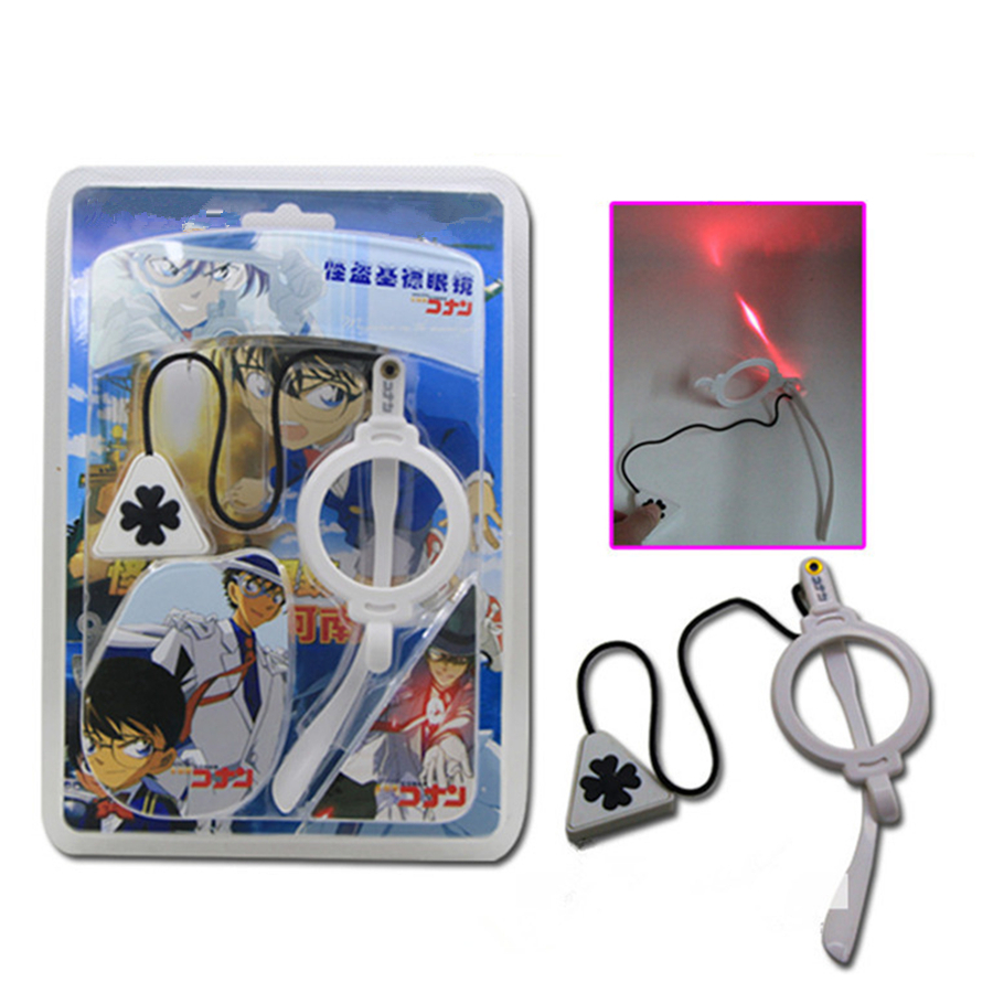 1Pcs Anime Accessories Detective Conan Kaitou Kiddo Cosplay Unilateral Eyewear frame Glasses Children Gift
