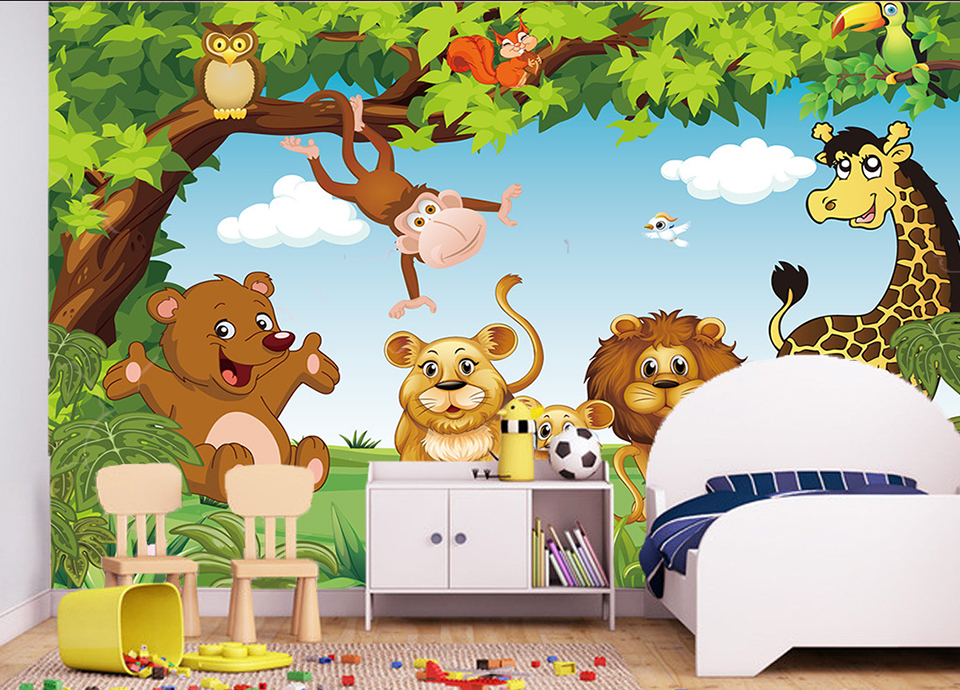 HTB1UZ6QQpXXXXb4XVXXq6xXFXXXX - Cartoon Animation child room wall mural for kids room boy/girl bedroom wallpapers 3D mural wallpaper custom any size