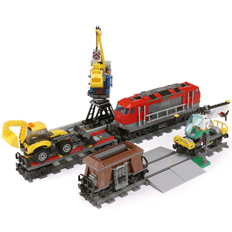 Lepin 02009 Genuine City Series The Heavy-haul Train Set 60098 Building Blocks Bricks Educational Toys Model Boy`s Gifts lepin 02009 genuine 1033pcs city series heavy haul train set building blocks bricks educational toys boy christmas gifts 60098