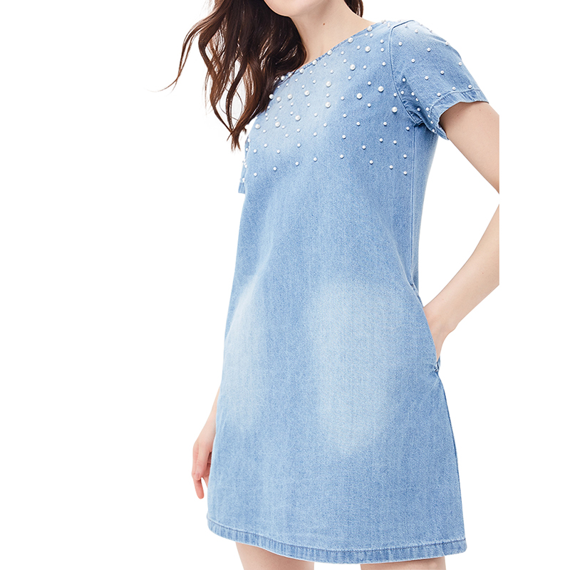 Dresses MODIS M181D00306 women dress cotton  clothes apparel casual for female TmallFS dresses dress befree for female half sleeve women clothes apparel casual spring 1811325561 70 tmallfs