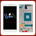Para huawei honor 7 display lcd com touch screen digitador + quadro assembléia peças de reposição branco/preto + ferramentas frete grátis