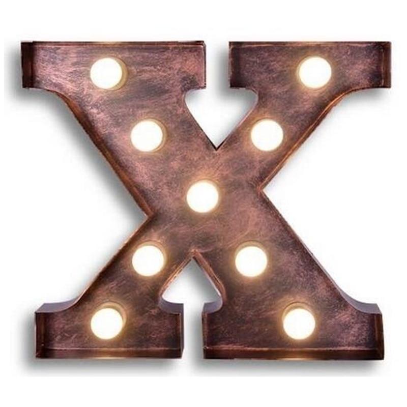 letters x wall lamps vintage metal letter wall lamps bar cafe billboard lights decorative backdrop alphabet