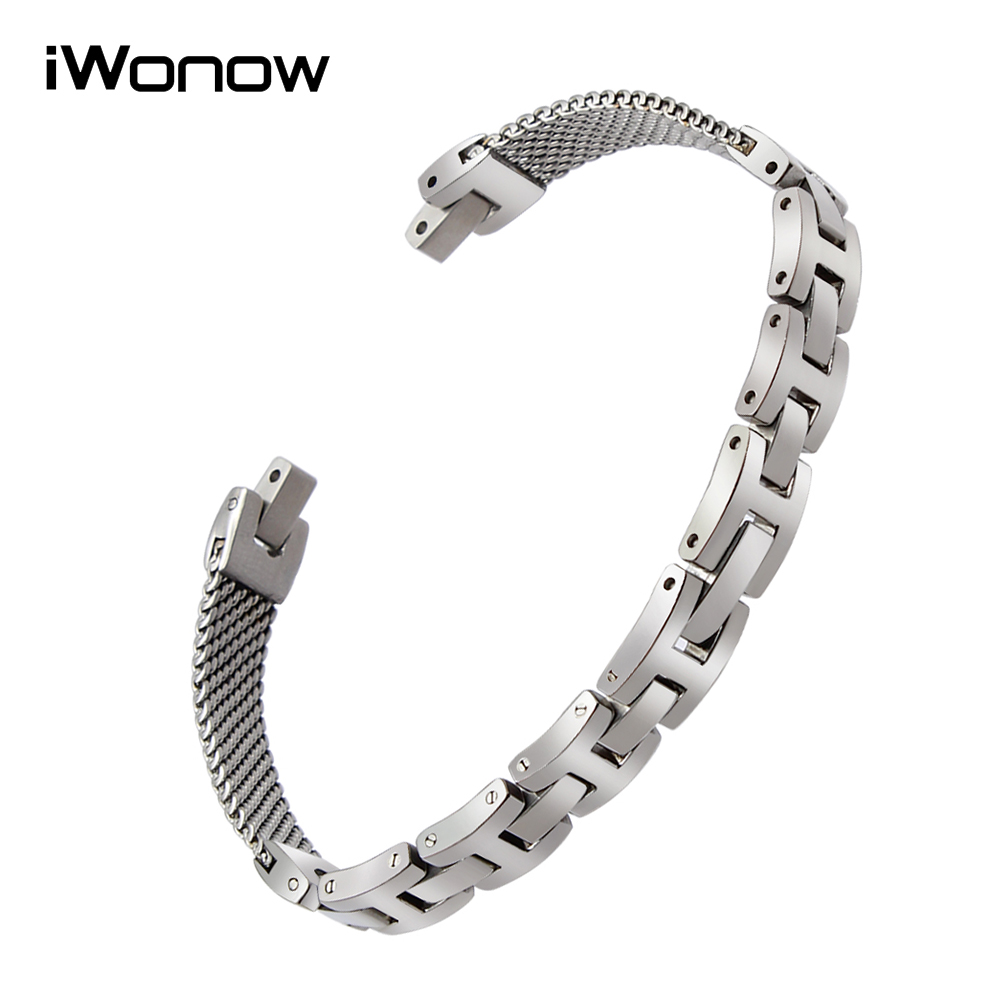 Fashion Stainless Steel Watchband + Tool for Armani AR7361 Women's Watch Band Replacement Strap Wrist Belt Link Bracelet Silver stainless steel cuticle removal shovel tool silver