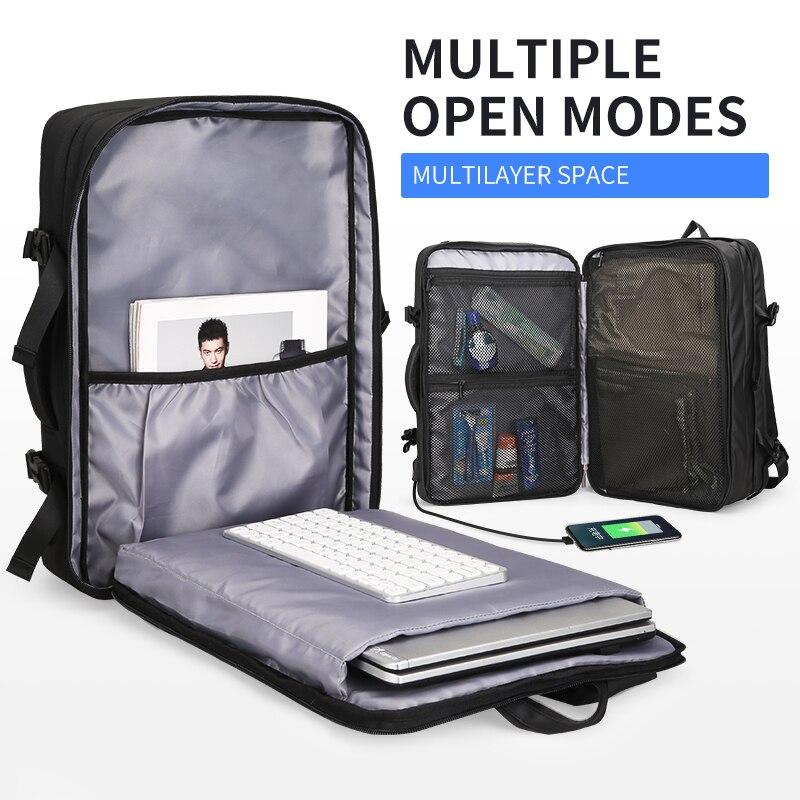 Дизайнерский мужской рюкзак с зарядкой через USB, с защитой от кражи, рюкзаки для путешествий, большая вместительность, мужская деловая сумка... - 3