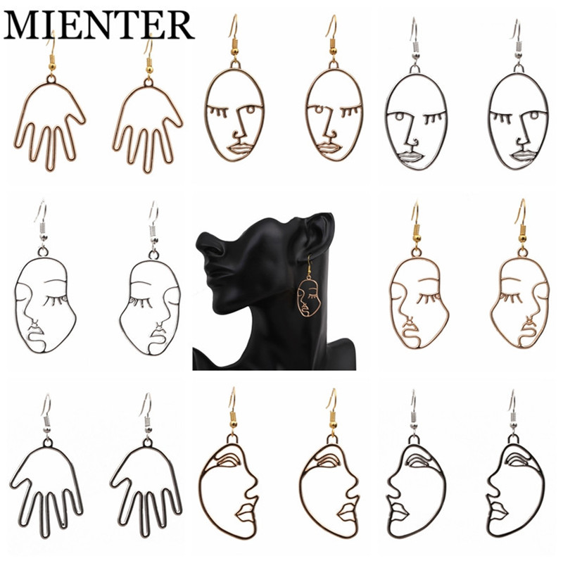 MIENTER Fashion Face expression palm Earrings for women Sexy jewelry charm Lovely exaggeration earring personality New