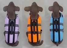 De calidad superior Grande Perro marinero traje perros grandes de moda del color del caramelo chalecos salvavidas de mascotas productos para mascotas traje apparel 1 unids/lote S M L XL