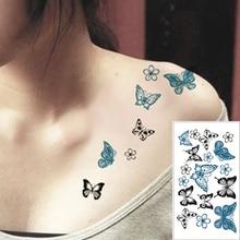 SHNAPIGN 25 Style Mini Temporary Tattoo Body Art,Black butterfly Designs, Flash Tattoo Sticker Keep 3-5 days Waterproof 10.5*6cm
