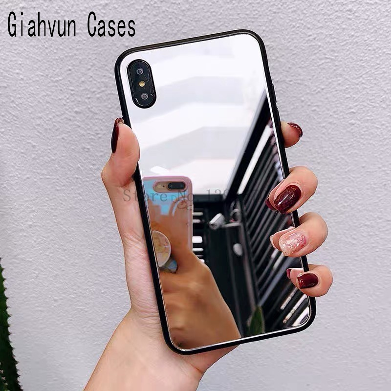 Luxury Mirror Electroplating Soft black bumper Tpu cover For Samsung Galaxy A6 A520 A720 A750 A8plus <font><b>A82018</b></font> Protective Cases image