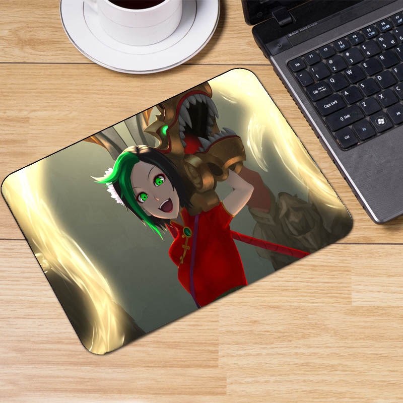 Mairuige The Game Mousepads League of Legends Art Mousepad Size 25x29x2cm and 22x18x2cm Small Size Pc Moba Game Table Desk Mat