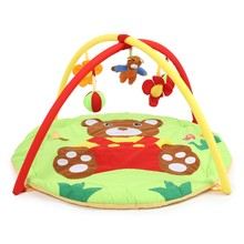 Baby Soft Play Mat Cartoon Bear Gym Blanket With Frame Kids Fitness Blanket Rattle Crawling Rugs Playmat Floor Carpet Paradise(China)