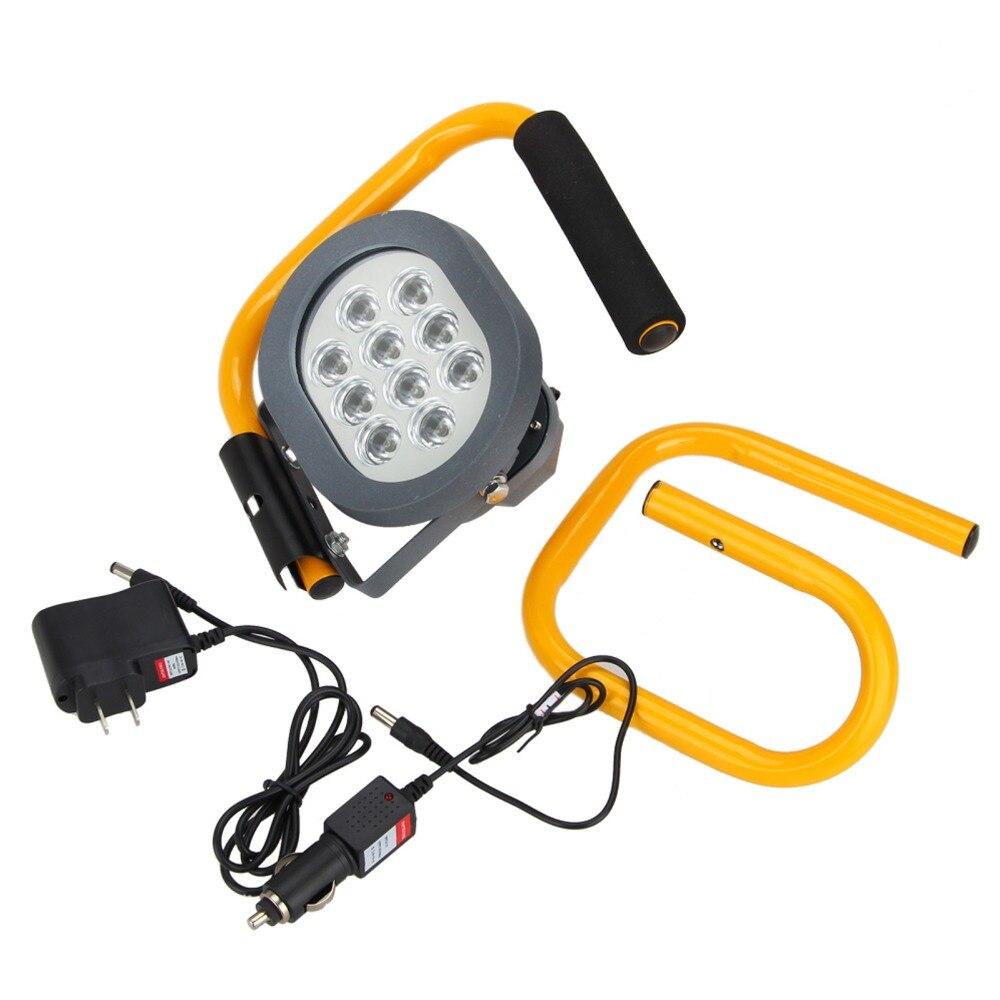 Outdoor Rechargeable 60W 10xLED Portable Floodlight Spot Bar Work Spotlight Lamp