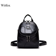 Mini backpack genuine leather shoulder bag for women small 2019 new fashion style shoulder bags for girls book shell gift(China)
