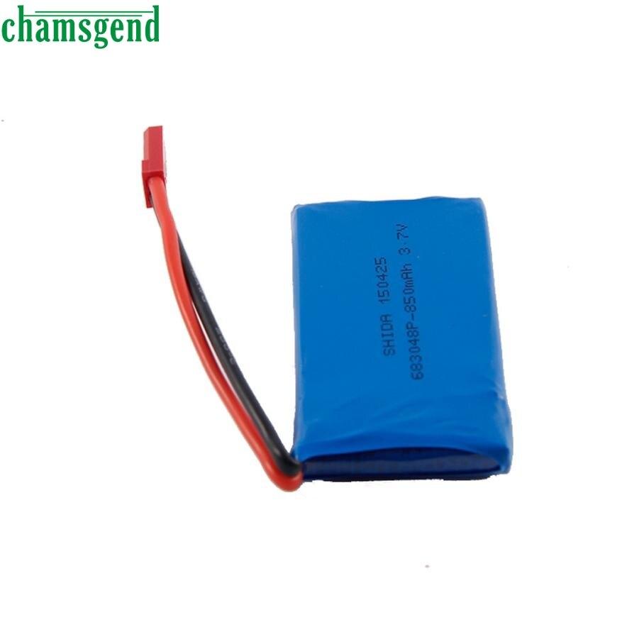CHAMSGEND 1Pcs 3.7V 850mAh Battery for Drone For Wltoys V686/V626/V636/X250 Quadcopter may 24 P30