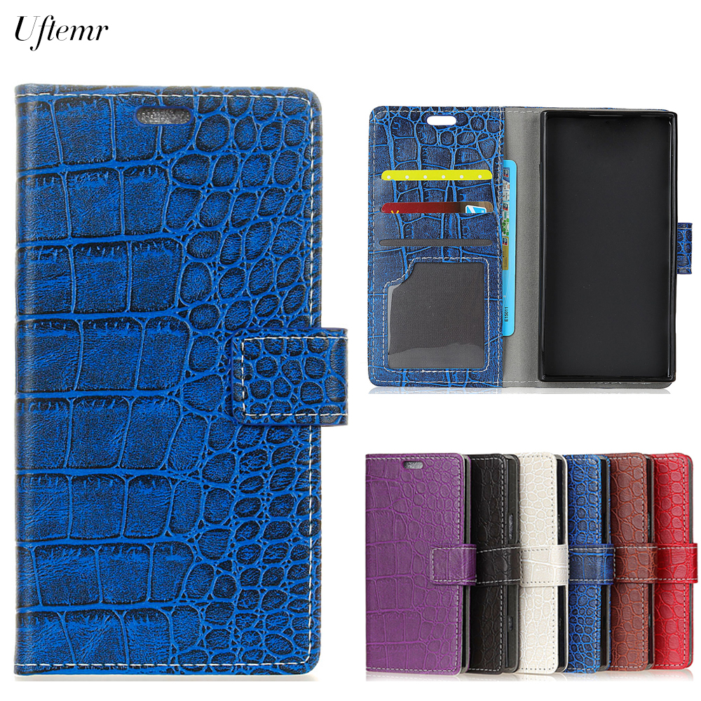 Uftemr Vintage Crocodile PU Leather Cover For MOTO X4 Protective Silicone Case Wallet Card Slot Phone Acessories