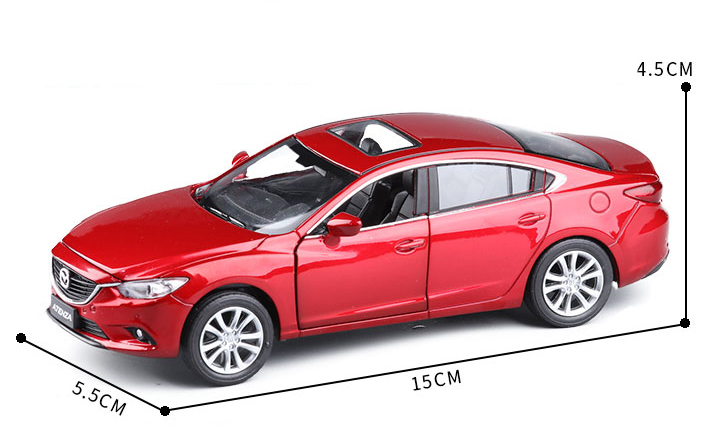 High Simulation New Mazda 6 ATENZA 1:32 Original Alloy Car Model With Pull Back Sound Light Sports Car For Kids Birthday Gifts
