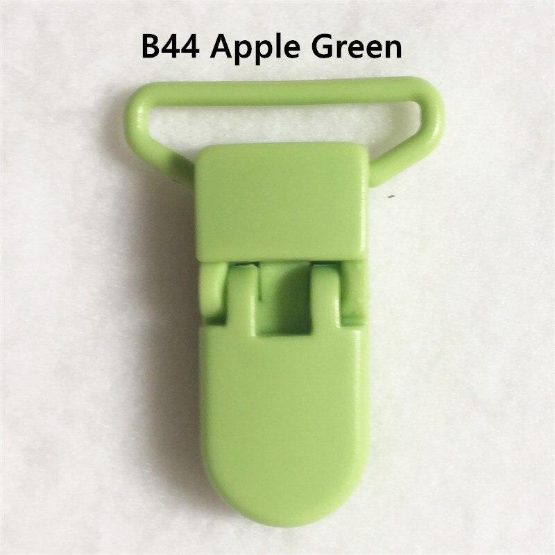 20 цветов смешанный) DHL 300 шт. Горячие формы D 2.5 см 1 ''Пластик маленьких Соски соска пустышка адаптер Chain Зажимы для 25 мм ленты - Цвет: B44