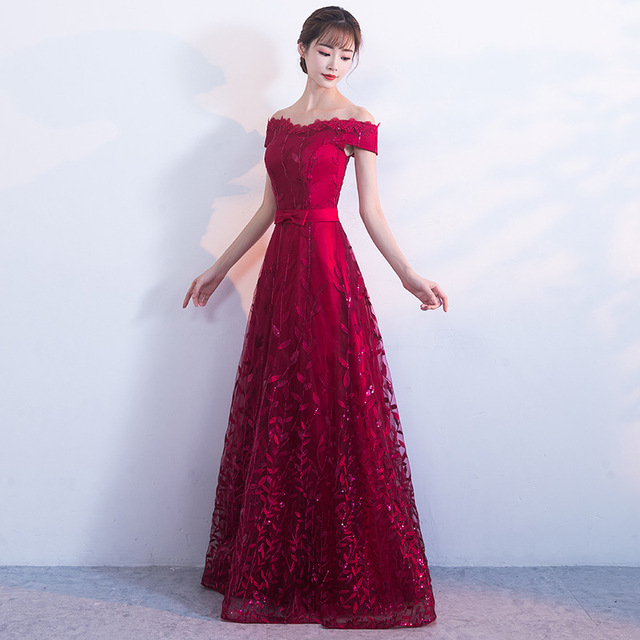 Bride Wedding Evening Dress Red Qipao Long Princess Prom Gown Sexy  Cheongsam Chinese Dress 2017 Autumn e82a31db332b