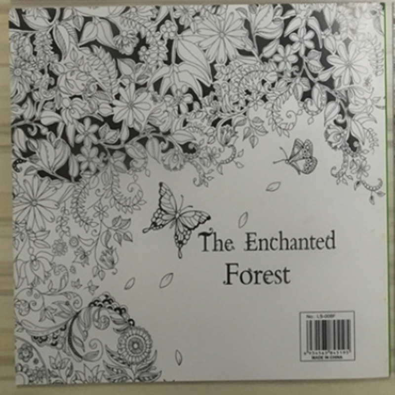 Aliexpress Buy The Enchanted Forest Coloring Book For Adult Kids Mandala Secret Garden Books Antistress Art Quiet Color Drawing 2525cm 48Pages From