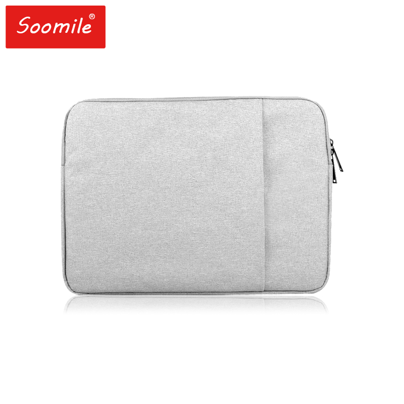 Soomile Laptop Bag 12 15 15.6 Inch Notebook PC Bag Anti-thef Aseismatic Simple Protfolio Office Briefcase Business Bags Handbag