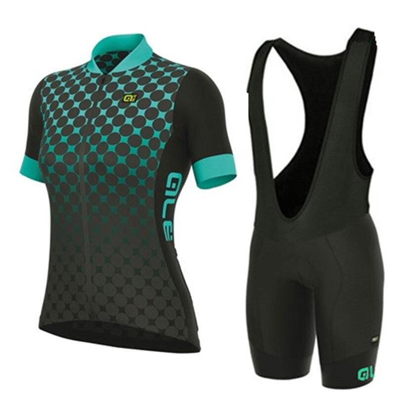 2018 Pro Для женщин Vélo комплект дышащий MTB Одежда быстросохнущая велосипед Джерси летом Спортивная велосипед майки Ropa Ciclismo